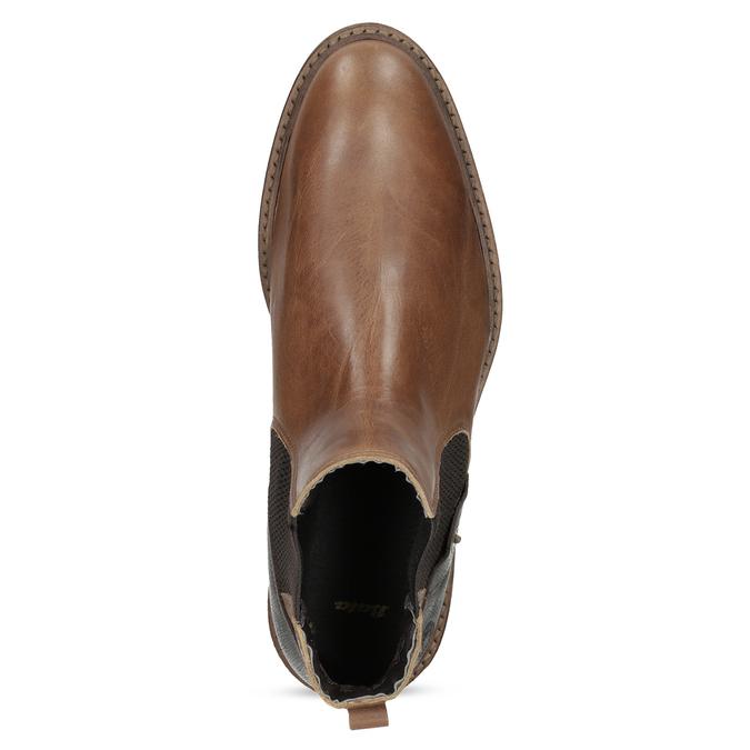 Pánske hnedé kožené Chelsea bata, hnedá, 826-3502 - 17