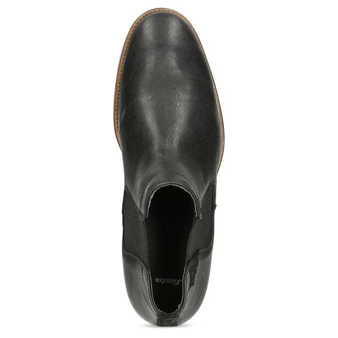 Pánske čierne Chelsea kožené bata, čierna, 826-6504 - 17