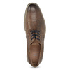 Hnedé kožené pánske poltopánky bata, hnedá, 826-3866 - 17