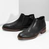 Pánske čierne Chelsea kožené bata, čierna, 826-6504 - 16