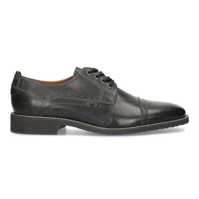 Pánske kožené Derby poltopánky bata, čierna, 826-2866 - 19