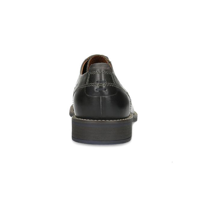 Pánske kožené Derby poltopánky bata, čierna, 826-2866 - 15