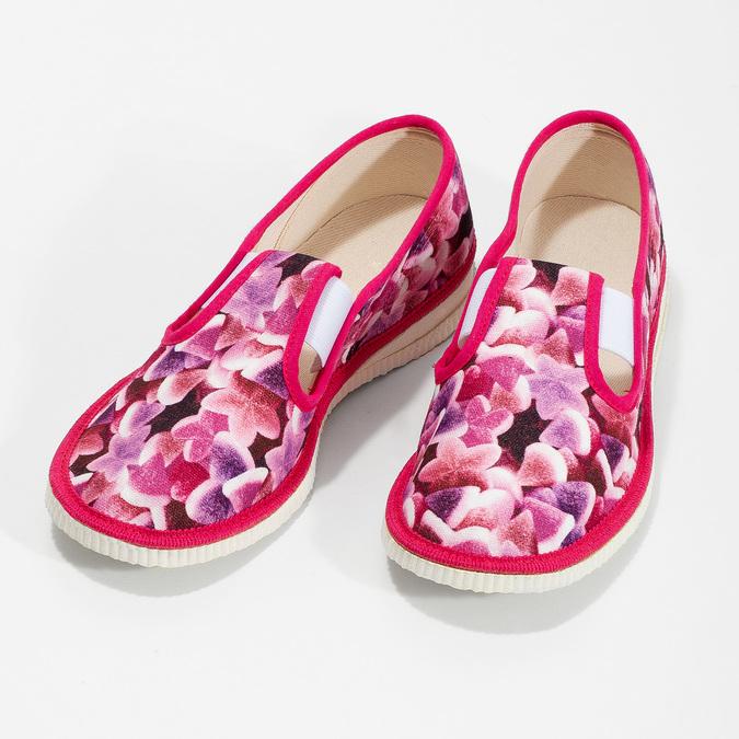 Ružové detské prezuvky so vzorom bata, ružová, 379-9123 - 16