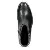 Kožená dámska členková obuv s prackou vagabond, čierna, 514-6140 - 17