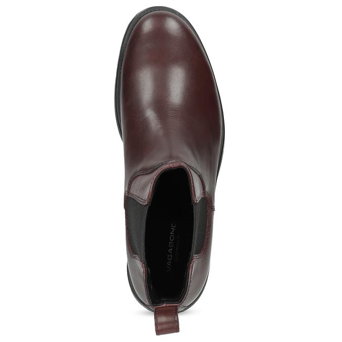 Hnedá kožená dámska Chelsea obuv vagabond, hnedá, 516-4130 - 17