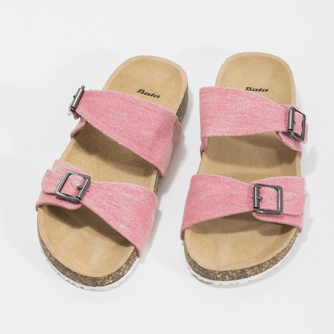 Dámske ružové korkové papuče bata, ružová, 579-5625 - 16