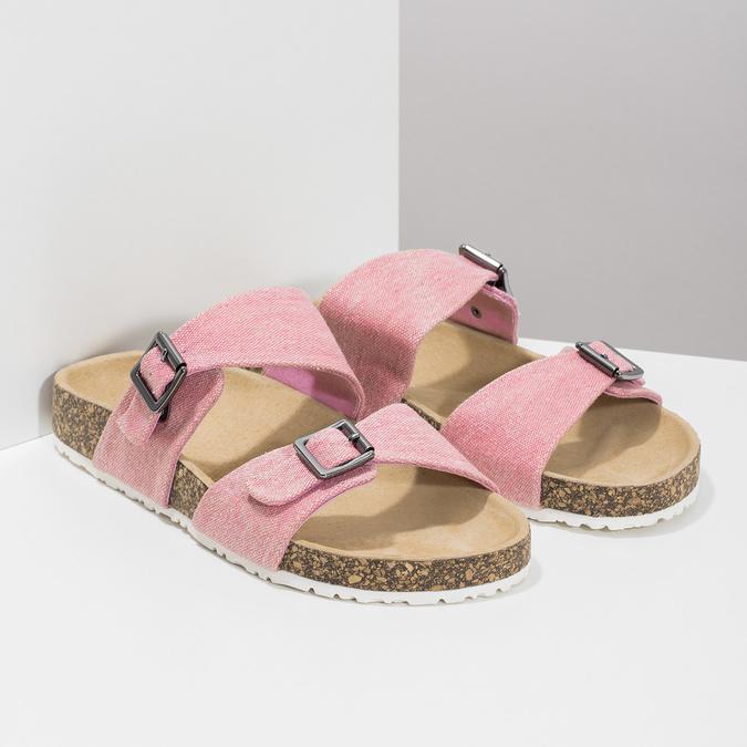 Dámske ružové korkové papuče bata, ružová, 579-5625 - 26