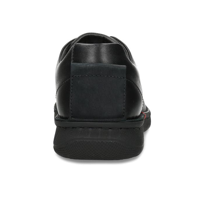 Pánske čierne kožené ležérne poltopánky bata, čierna, 824-6630 - 15