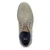 Kožená pánska členková obuv s prešitím bata, šedá, 843-2640 - 17