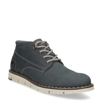 Pánska kožená členková modrá obuv weinbrenner, modrá, 846-9658 - 13