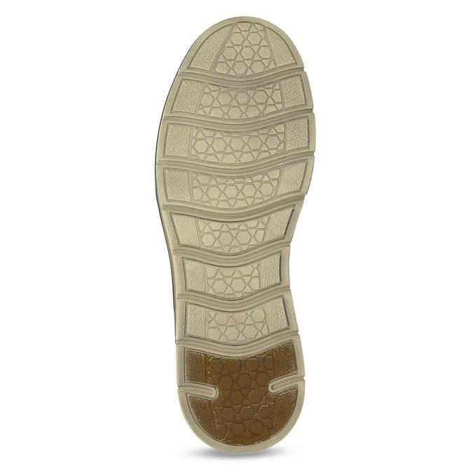 Pánske kožené ležérne poltopánky weinbrenner, hnedá, 846-4654 - 18