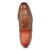 Hnedé kožené slip-on poltopánky bugatti, hnedá, 816-3012 - 17