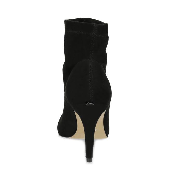 Členkové dámske čižmy na ihličkovom podpätku bata, čierna, 799-6620 - 15