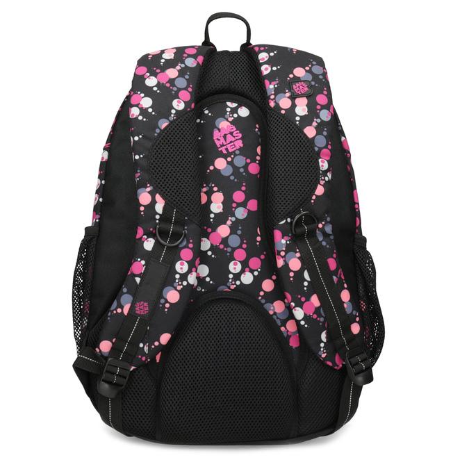 Školský batoh s bodkami bagmaster, ružová, 969-5719 - 16
