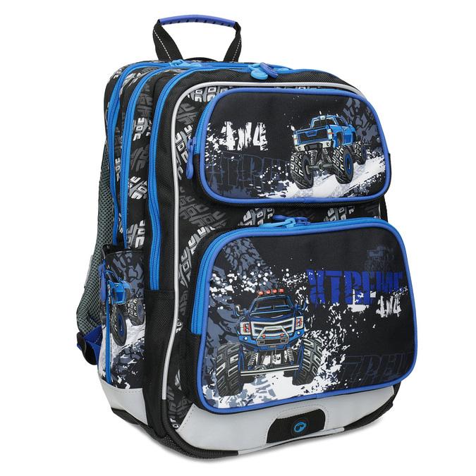 Školský batoh s autom bagmaster, modrá, 969-9713 - 13