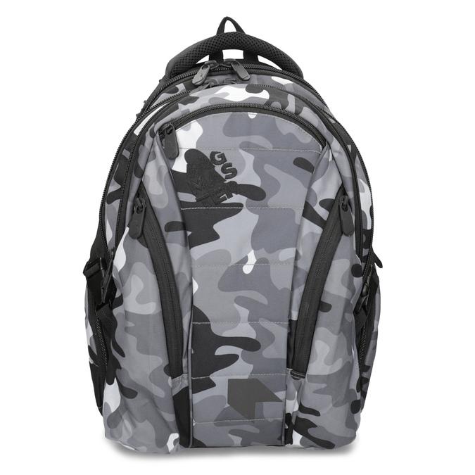 Maskáčový šedý školský batoh bagmaster, šedá, 969-2718 - 26