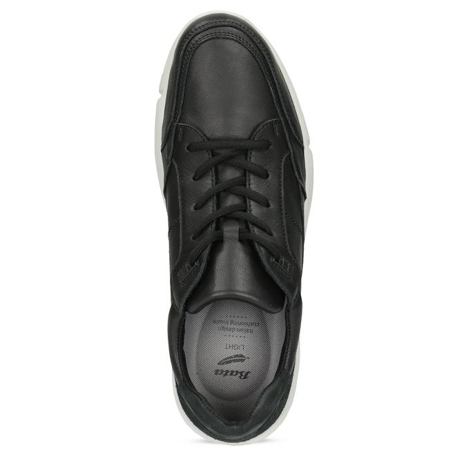 Čierne pánske tenisky s prešitím bata-light, čierna, 844-6647 - 17