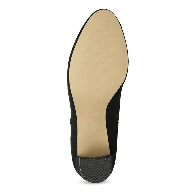 Dámska čierna členková obuv na podpätku bata, čierna, 799-6625 - 18