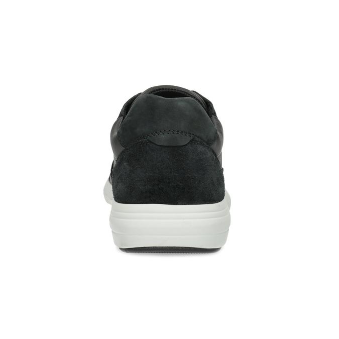 Čierne pánske tenisky s prešitím bata-light, čierna, 844-6647 - 15