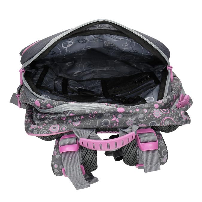 Šedá školská aktovka s ružovými detailami bagmaster, šedá, 969-2716 - 15