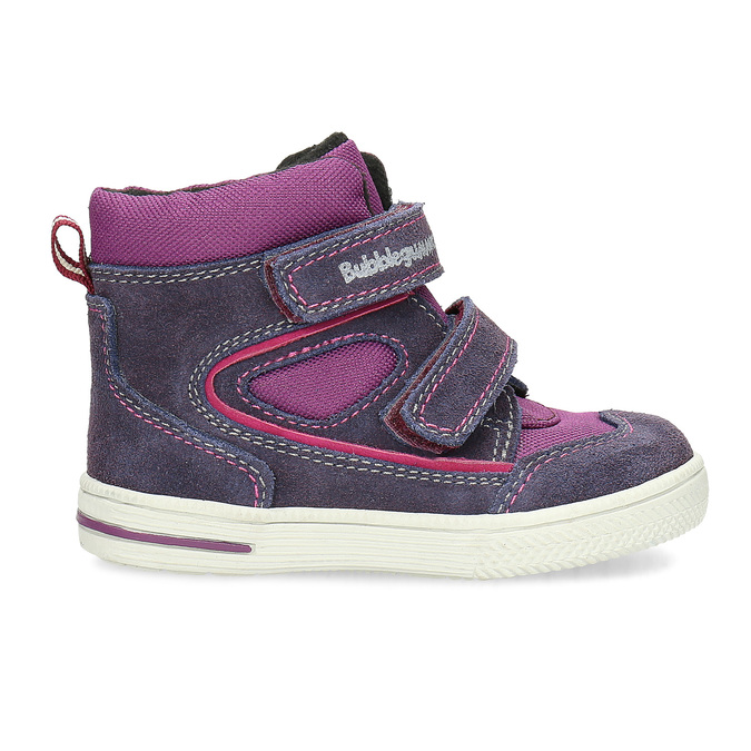 Členkové detské topánky s teplou podšívkou bubblegummers, fialová, 123-5610 - 19
