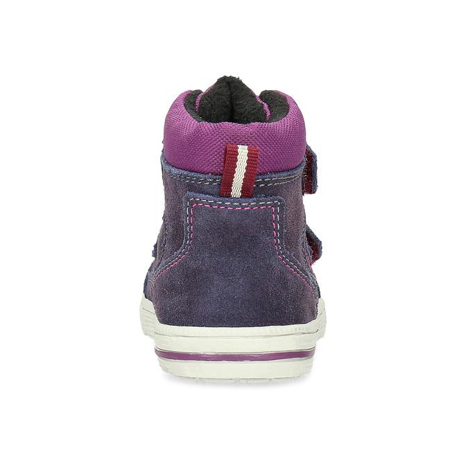 Členkové detské topánky s teplou podšívkou bubblegummers, fialová, 123-5610 - 15