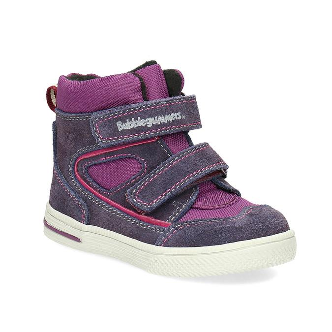 Členkové detské topánky s teplou podšívkou bubblegummers, fialová, 123-5610 - 13