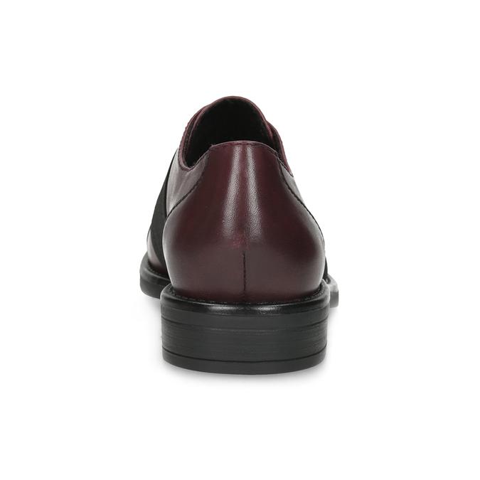 Vínové dámske poltopánky s elastickým pruhom bata, červená, 514-5602 - 15