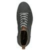 Členkové kožené tenisky s prešitím weinbrenner, šedá, 846-6720 - 17