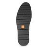 Kožené pánske čierne poltopánky flexible, čierna, 824-6768 - 18