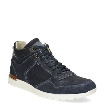 Tmavomodré kožené tenisky bata, modrá, 846-9717 - 13