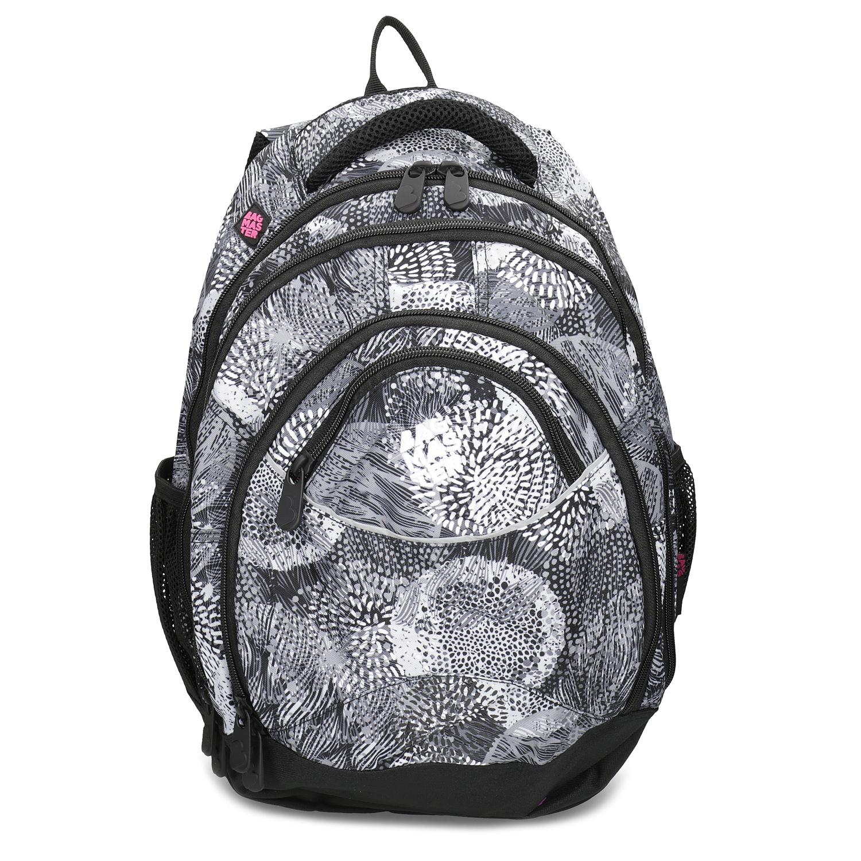 3491565194 Bagmaster Čierno-biely školský batoh - Školské batohy