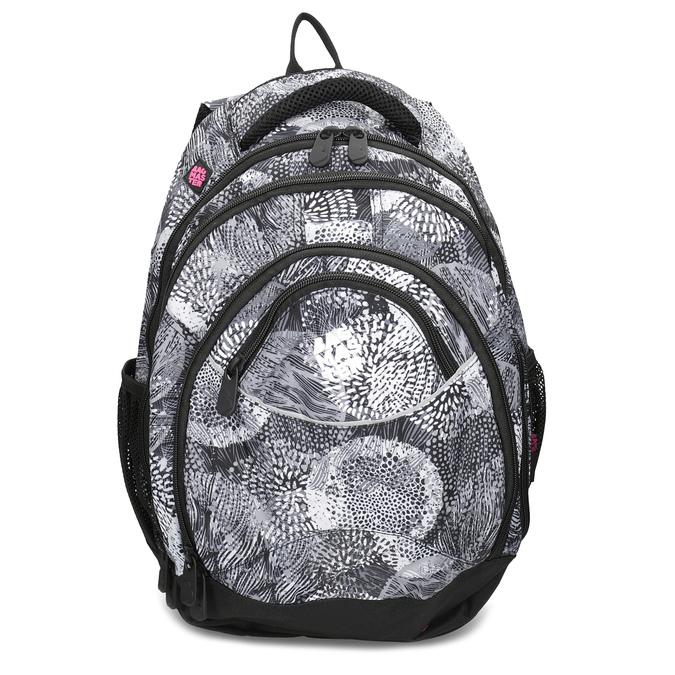 Čierno-biely školský batoh bagmaster, šedá, 969-2719 - 26