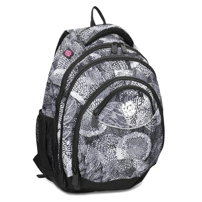 Čierno-biely školský batoh bagmaster, šedá, 969-2719 - 13