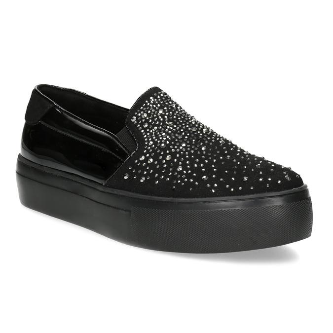fb9113f881 Bata light Dámske čierne slip-on s kamienkami - Všetky topánky