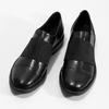 Kožené dámske poltopány s elastickým pruhom bata, čierna, 514-6602 - 16