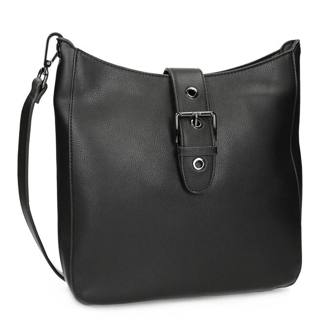 Čierna dámska kabelka s prackou bata, čierna, 961-6870 - 13