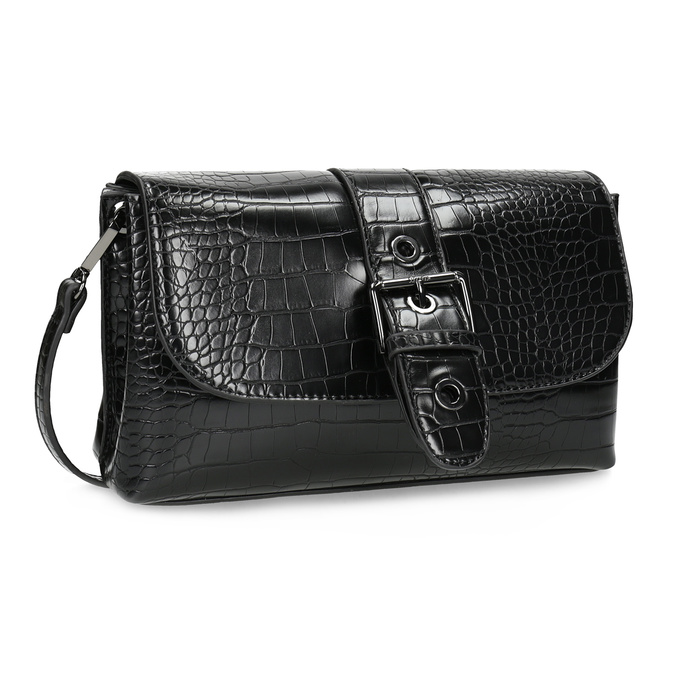 Čierna Crossbody kabelka s prackou bata, čierna, 961-6873 - 13