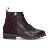 Kožená členková obuv so strapcami flexible, červená, 596-5696 - 19