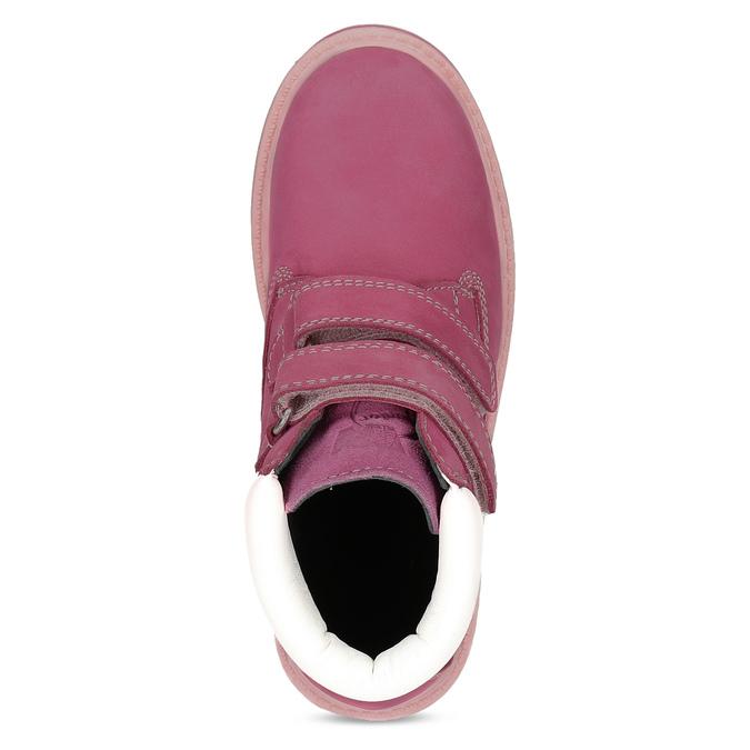 Ružová kožená detská členková obuv weinbrenner, ružová, 226-5201 - 17