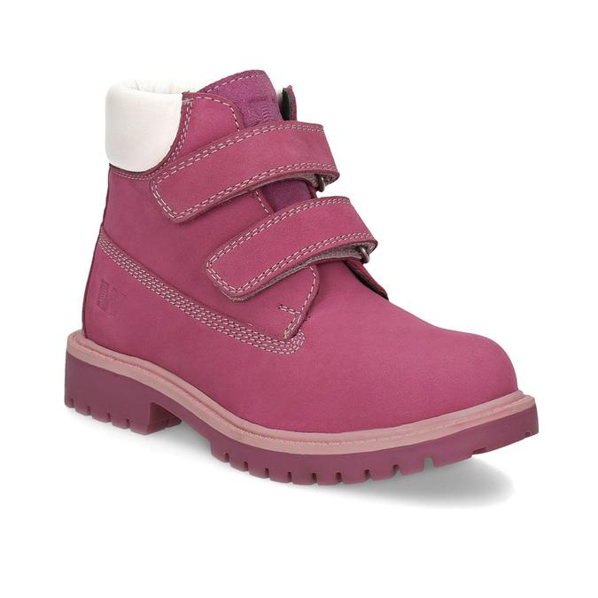 Ružová kožená detská členková obuv weinbrenner, ružová, 226-5201 - 13