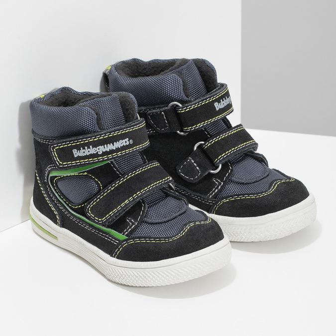 Členková detská obuv na suché zipsy bubblegummers, modrá, 113-9610 - 26