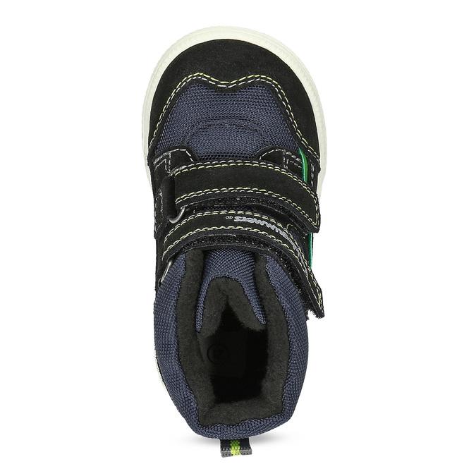 Členková detská obuv na suché zipsy bubblegummers, modrá, 113-9610 - 17