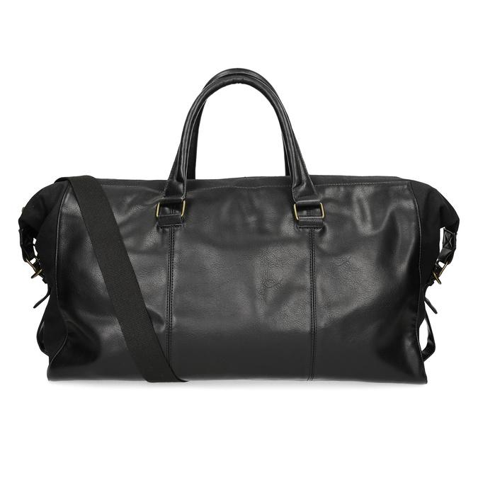 Pánska čierna taška s popruhom bata, čierna, 969-6230 - 16