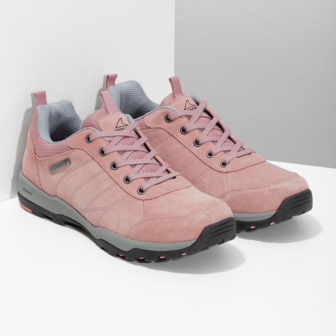 Ružové dámske kožené tenisky power, ružová, 503-5146 - 26