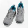 Dámske šedé kožené tenisky power, šedá, 503-2146 - 16