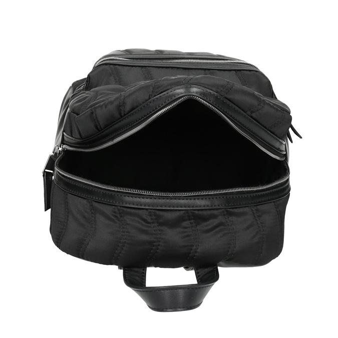 Čierny dámsky batoh s prešívaním bata, čierna, 969-6911 - 15