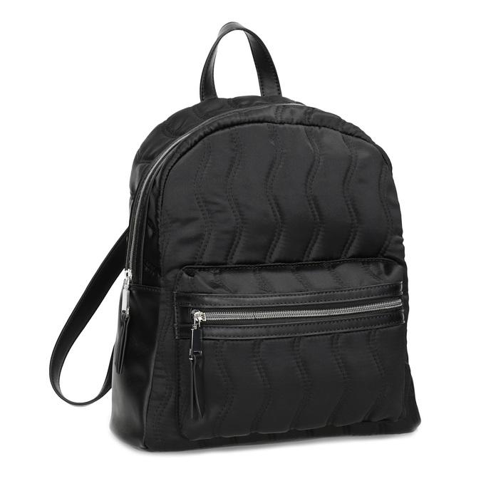 Čierny dámsky batoh s prešívaním bata, čierna, 969-6911 - 13