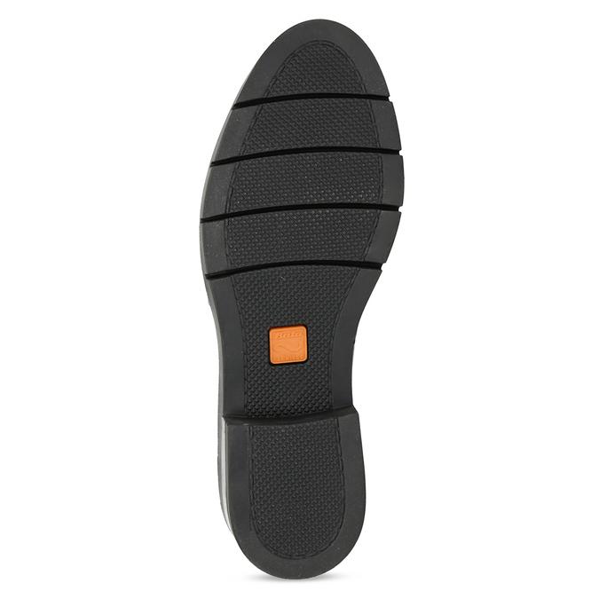 Dámske čierne kožené poltopánky flexible, čierna, 524-6662 - 18