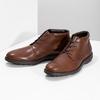 Členková kožená pánska hnedá obuv flexible, hnedá, 896-4707 - 16